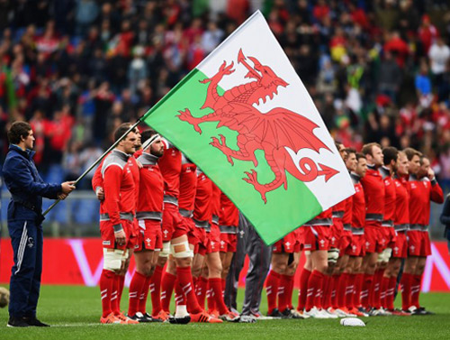 welsh flag at the rugby